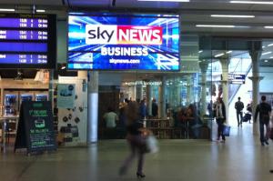 Sky News Screen at St. Pancras