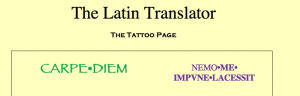 Latin Tattoo page
