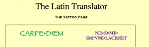 Latin Tattoo page
