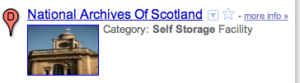 National Archives of Scotland. Category: Self-storage