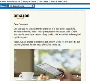 "Amazon letter beginning ""Dear Customers,"""