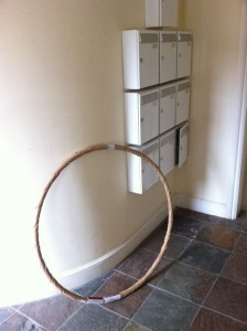 A wrapped up hula-hoop