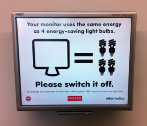 Your monitor uses the same energy as 4 energy-saving light bulbs