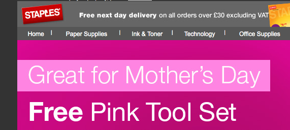 mother's day pink tool set