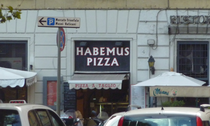 "Pizza place called ""Habemus Pizza"" from the Vatican"