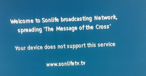 """Broadcasting the Message of the Cross"" - Your device does not support this service."