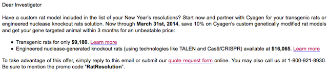 Have you got a transgenic mouse order in your new year's resolutions?