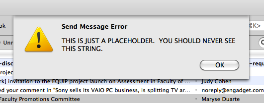 "Error message: ""THIS IS A PLACEHOLDER. YOU SHOULD NEVER SEE THIS STRING."""