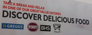 Discover Delicious Food: Greggs, Wimpy, BHS, Muffin Break