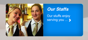 """Our stuffs will enjoy serving you."""