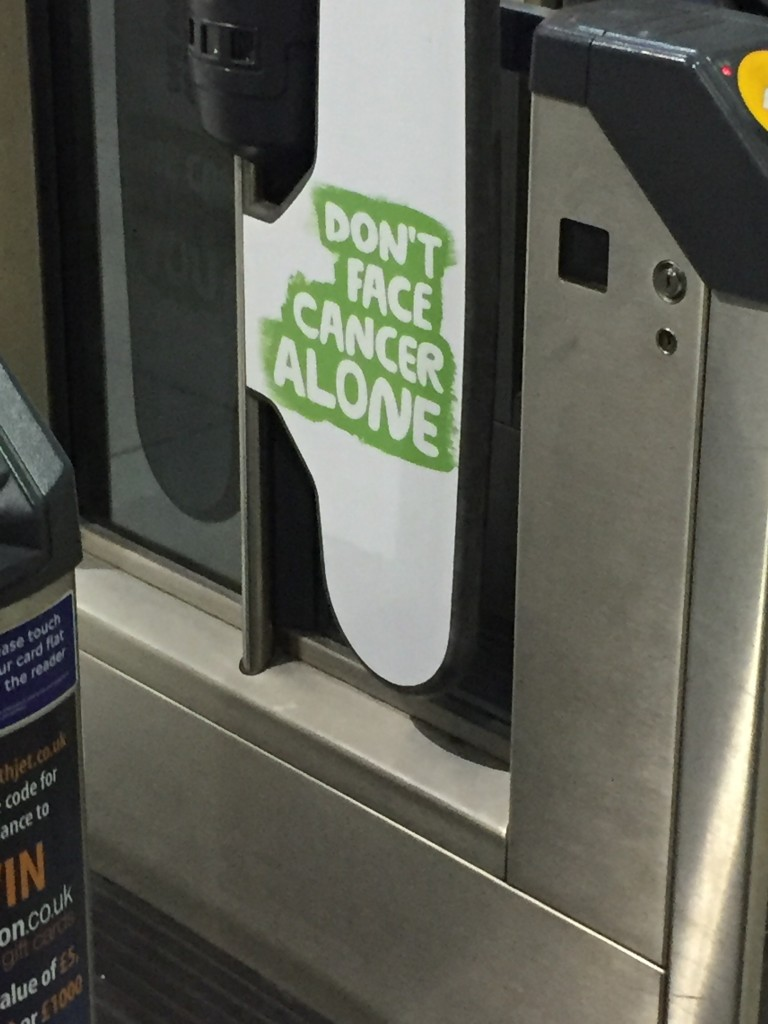 """don't face cancer alone"""