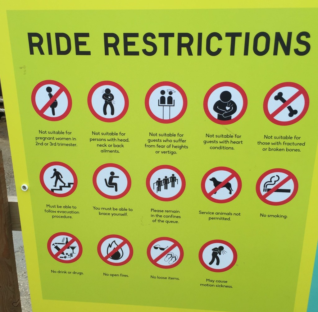 Dreamland ride restrictions graphic