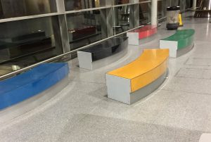 Benches at Stratford International
